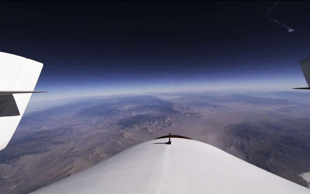 virgin Galactic Second Rocket Tail Footage