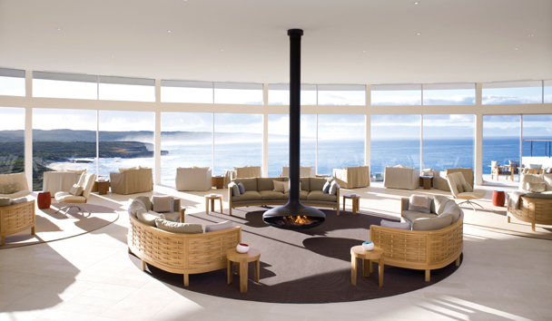 Southern Ocean Lodge: The 'Great Room' with Panoramic Views