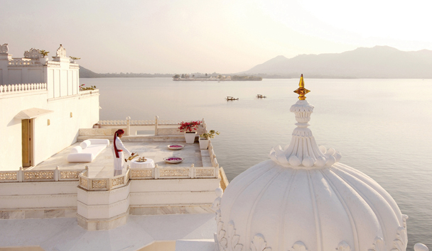 Taj Lake Palace, Roof Terrace View, India
