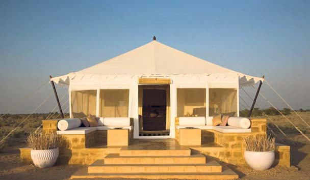 The Serai: Tented Suite Exterior