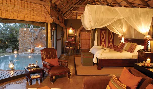 A villa at the Leopard Hills Private Game Reserve