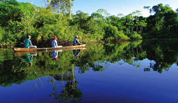 Peru's Amazon River - view from a boat