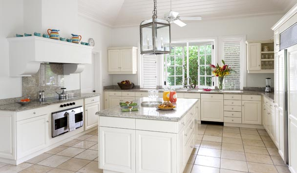 Oleander Estate House at Jumby Bay Island: Kitchen