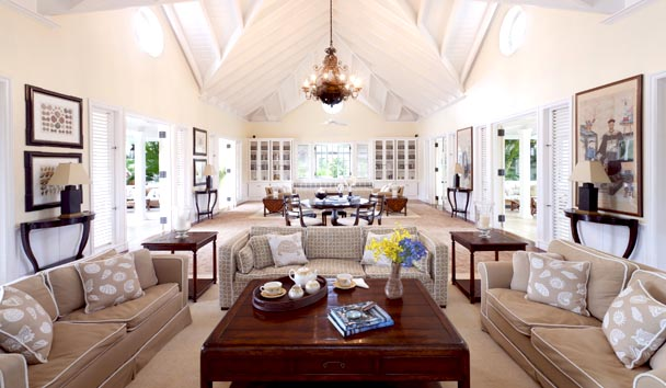 Oleander Estate House at Jumby Bay Island: Living Room