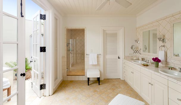 Oleander Estate House at Jumby Bay Island: Master Bathroom