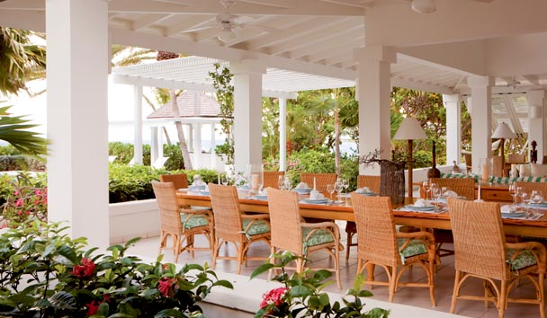 Bananaquit Estate House at Jumby Bay Island: Dining