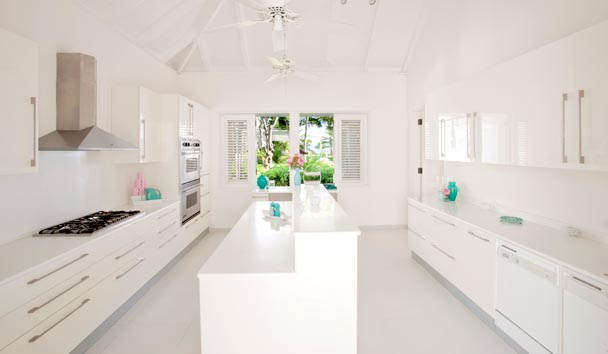 Bananaquit Estate House at Jumby Bay Island: Kitchen