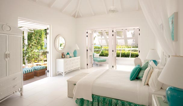 Bananaquit Estate House at Jumby Bay Island: Bedroom/Garden View