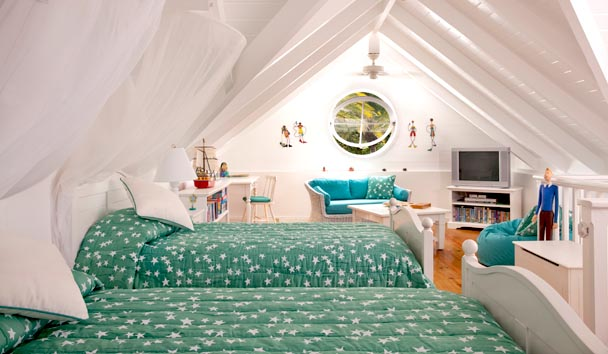Bananaquit Estate House at Jumby Bay Island: Rooftop Bedroom