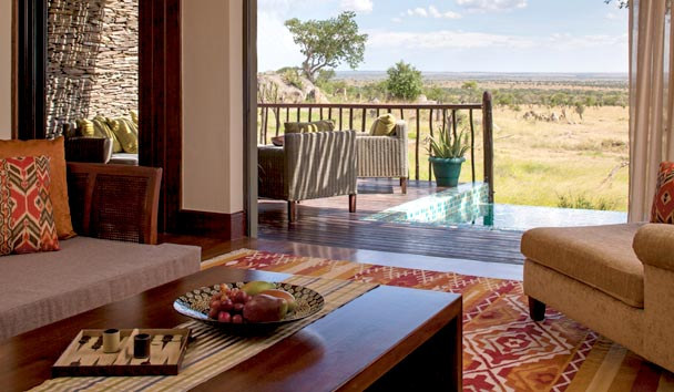Four Seasons Safari Lodge, Serengeti: Terrace Suite Water Hole View