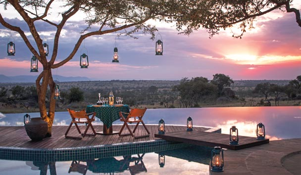 Four Seasons Safari Lodge, Serengeti: Poolside Dining