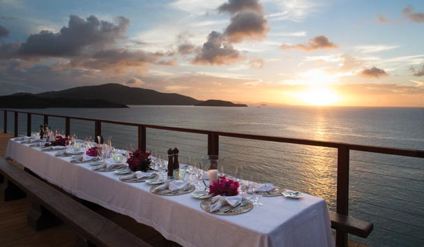 Necker Island: The Great House Roof Terrace Dinner