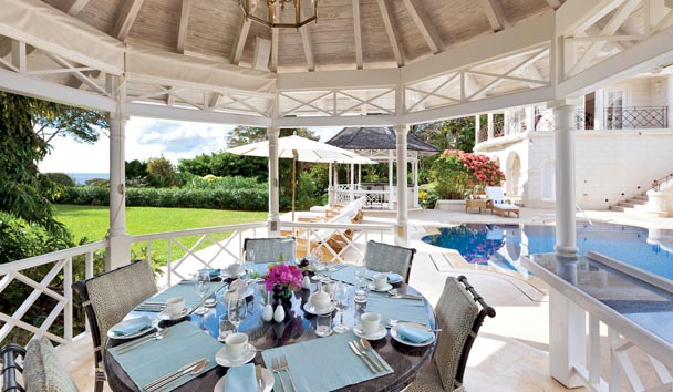 Illusion Villa at Sugar Hill Estate: Pavilion Dining