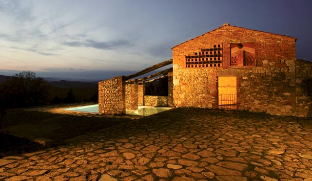 The Farmhouses at Castello di Casole: Farmhouse Exterior and Private Pool