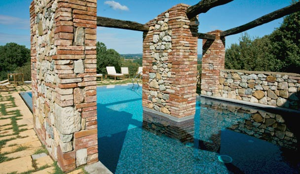 The Farmhouses at Castello di Casole: Exterior and Private Pool