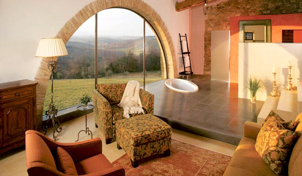 The Farmhouses at Castello di Casole: Farmhouse Lounge