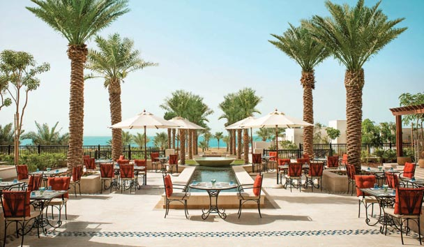 The St. Regis Saadiyat Island Resort: Al Fresco Dining Area