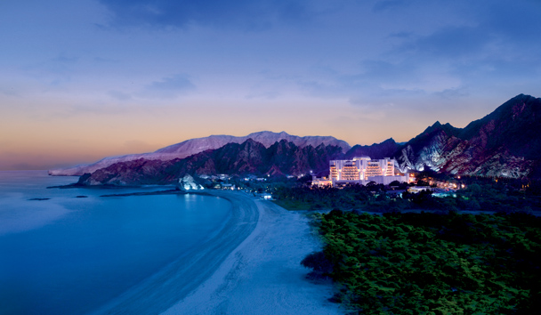 Al Bustan Palace, A Ritz-Carlton Hotel: Hotel Exterior, Beach and Mountain Landscape