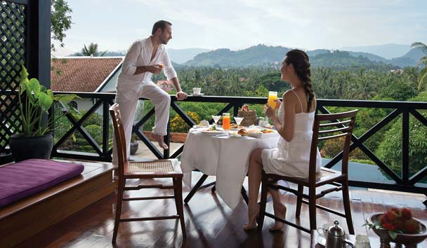 Belmond La Residence Phou Vao: Private Breakfast on the Suite Terrace