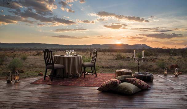 Madikwe Hills Private Game Lodge: Private dining