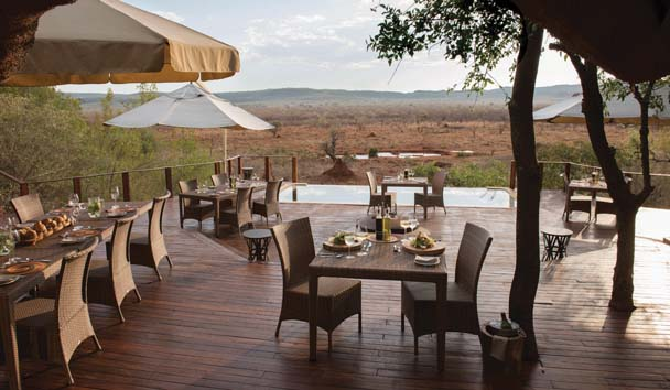 Madikwe Hills Private Game Lodge: Dining Terrace
