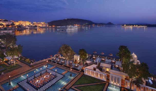The Leela Palace Udaipur: Terrace, Garden and Lake View