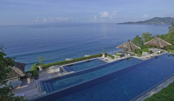 Amankila: Three-tiered Infinity Pool