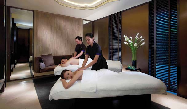 Mandarin Oriental, Singapore: Couples Spa Treatment Room