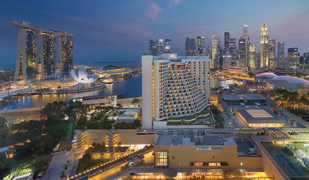 Mandarin Oriental Singapore: View of Hotel Location within Singapore