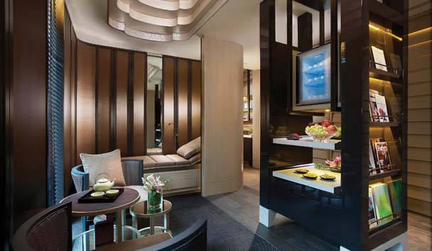Mandarin Oriental, Singapore: Tea Lounge at The Spa