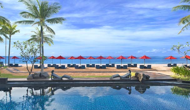 The St. Regis Bali Resort: View from Kayuputi Restaurant