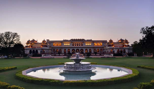 Rambagh Palace: Hotel Exterior, Gardens and Water Feature