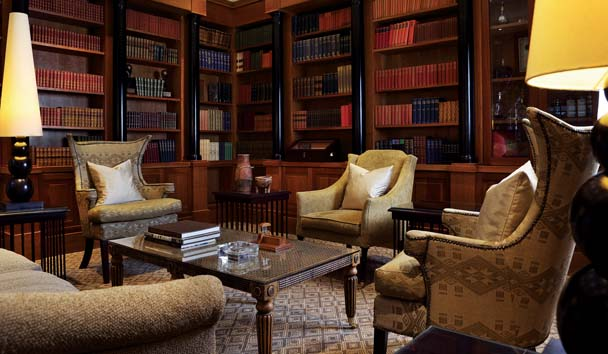 Saxon Hotel, Villas & Spa: Library