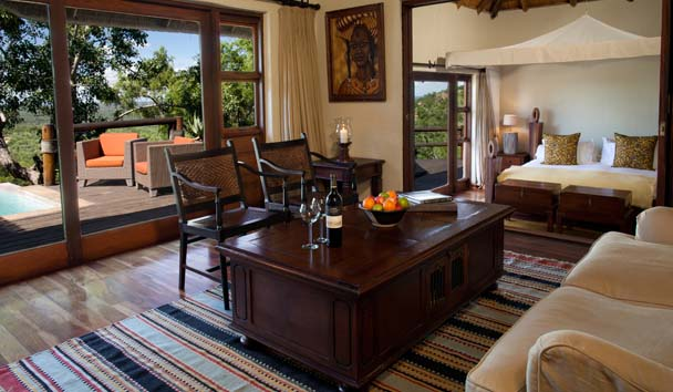 Ulusaba Private Game Reserve: Rock Lodge Makwela Suite