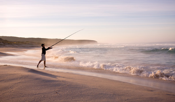 Southern Ocean Lodge: Fishing on the Beach