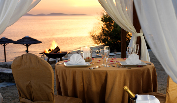 Mykonos Grand Hotel & Resort: Romantic Beach Dinner