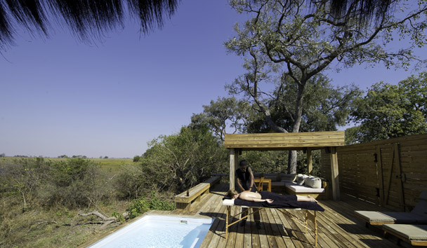 Vumbura Plains: In-Tent Massage Beside Private Pool
