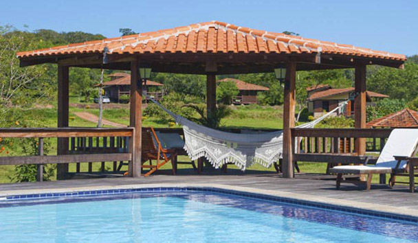 Fazenda Santa Esmeralda: Swimming Pool and Guest Bungalow