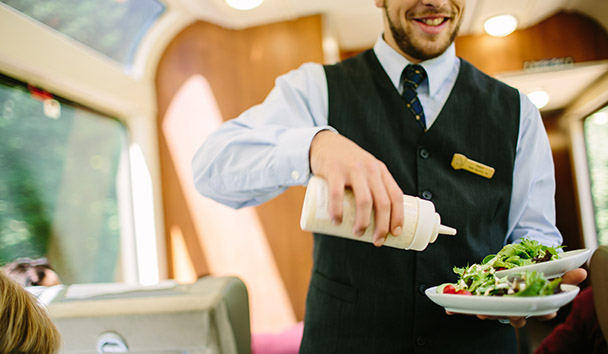 Rocky Mountaineer: SilverLeaf Lunch Service