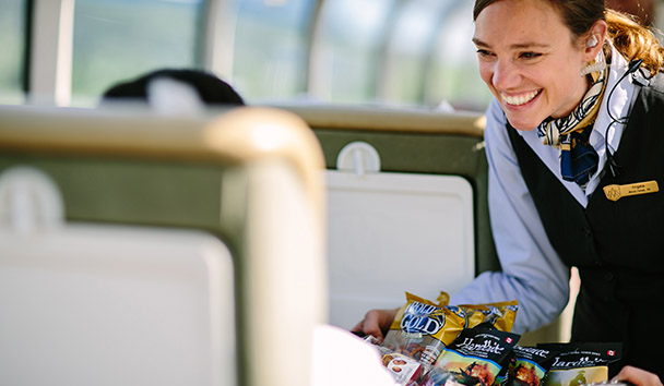 Rocky Mountaineer: GoldLeaf Snack Service