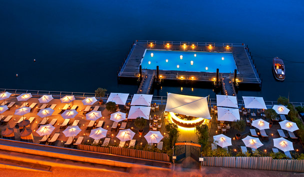 Grand Hotel Tremezzo: Dining Terrace and Pool
