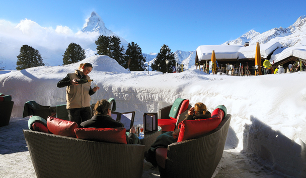 Riffelalp Resort 2222m: Mark Twain Lounge