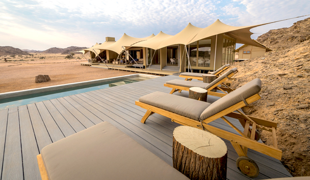Hoanib Skeleton Coast: Swimming Pool and Dining Area Exterior