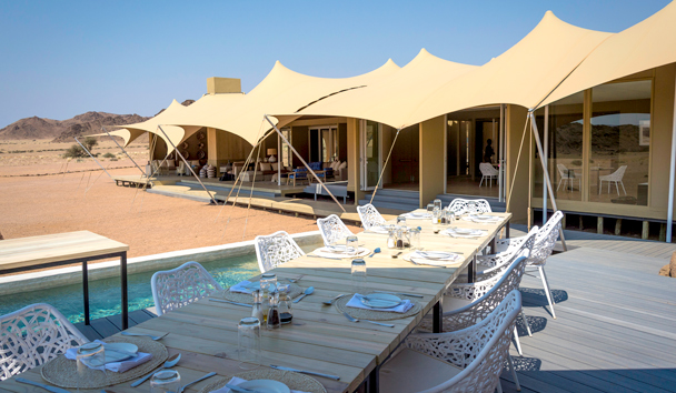 Hoanib Skeleton Coast: Open-Air Lunch on the Pool Deck