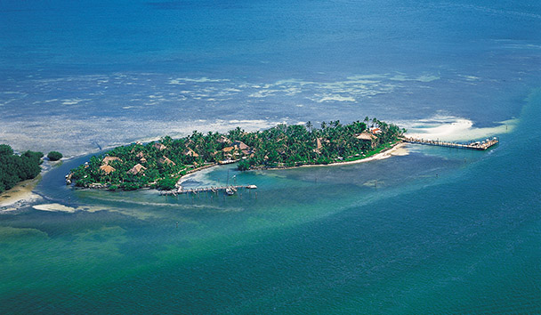 Aerial View of Little Palm Island Resort & Spa