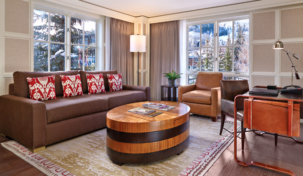 St. Regis Aspen Resort: One Bedroom Suite - Living Room