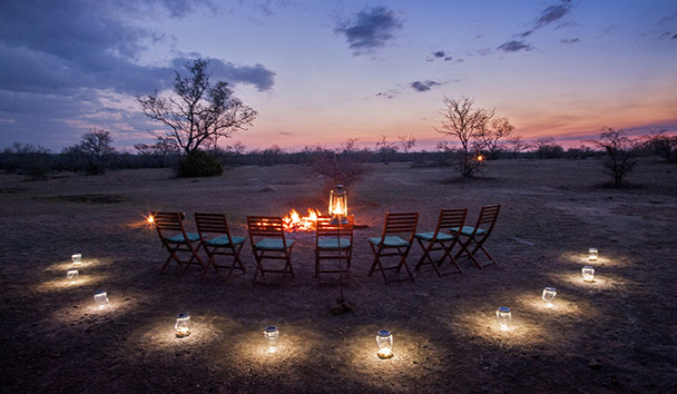 Azura Selous: Bush Dinner Camp Fire