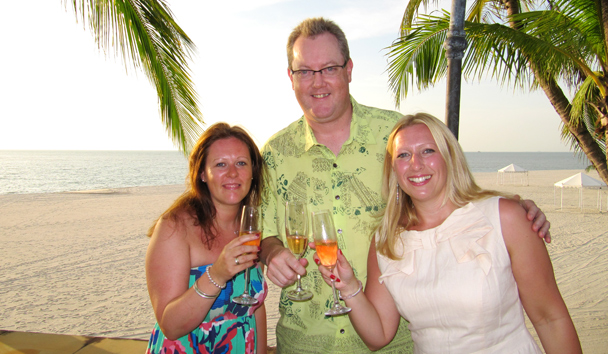 Hayley with our Product Manager for Asia, Julie Sturzy and Alastair McAlpine, General Manager of Four Seasons Resort Langkawi