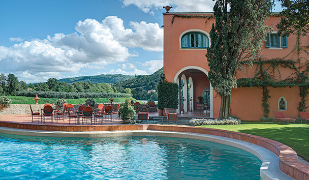 Villa La Massa: Swimming Pool and Pool Bar