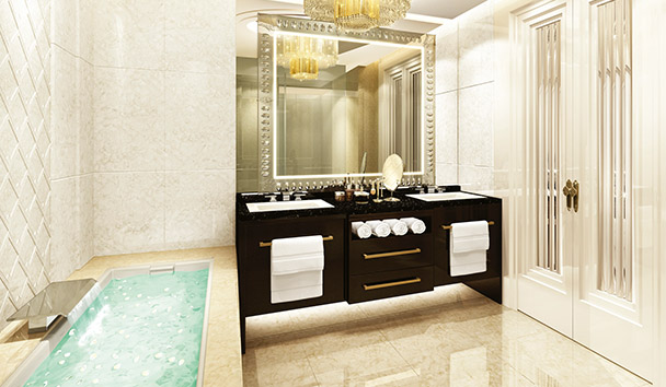 The St. Regis Chengdu: Deluxe Room Bathroom